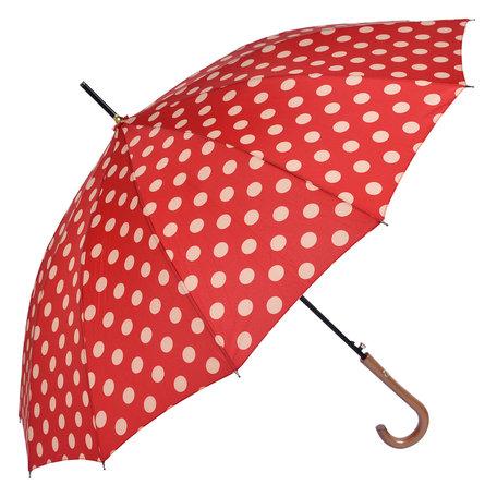 Paraplu ø 93*90 cm Rood | MLUM0025R | Clayre & Eef