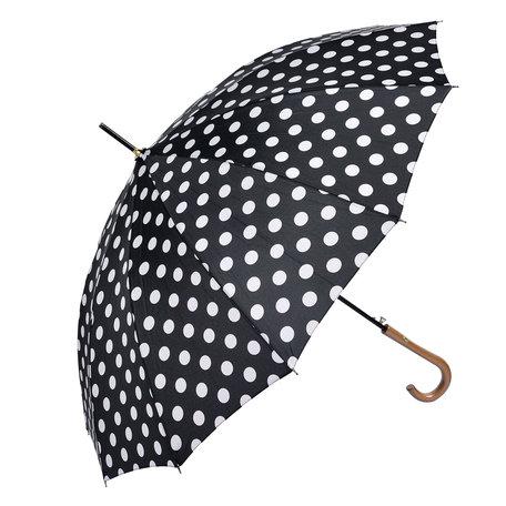 Paraplu ø 93*90 cm Zwart | MLUM0025Z | Clayre & Eef