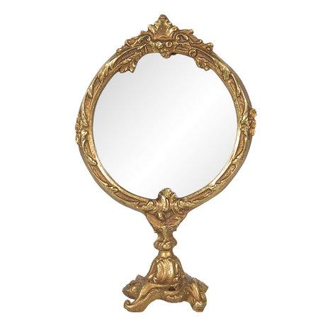 Spiegel 12*6*19 cm Goudkleurig   62S173   Clayre & Eef