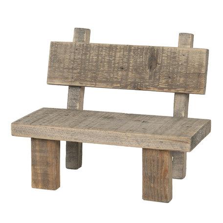 Decoratie mini stoeltje 28*18*22 Bruin | 6H1865 | Clayre & Eef