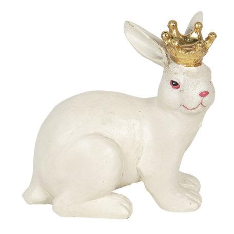 Decoratie konijn 12*7*11 cm Wit | 6PR2840 | Clayre & Eef