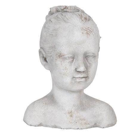 Decoratie hoofd kind 16*14*20 cm Grijs | 6TE0286 | Clayre & Eef