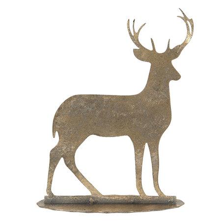 Decoratie hert 14*5*17 cm Bruin   6Y3883   Clayre & Eef