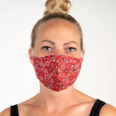 Mondmasker fashion 13*26 cm Rood | FM0001 | Clayre & Eef