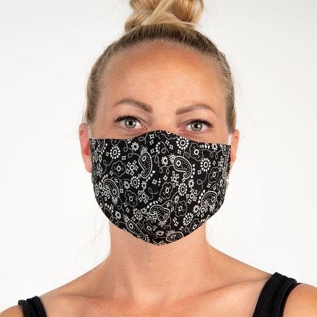 Mondmasker fashion 13*26 cm Zwart | FM0002 | Clayre & Eef