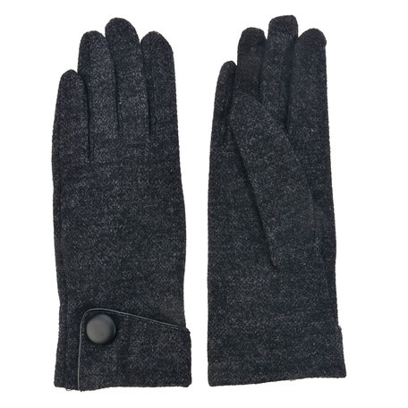 Handschoenen 8*24 cm Zwart | MLGL0012Z | Clayre & Eef