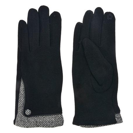 Handschoenen 8*24 cm Zwart | MLGL0013Z | Clayre & Eef