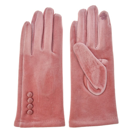 Handschoenen 8*24 cm Roze | MLGL0014P | Clayre & Eef