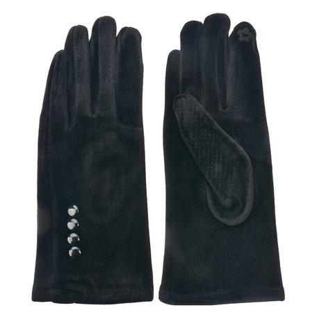 Handschoenen 8*24 cm Zwart | MLGL0014Z | Clayre & Eef