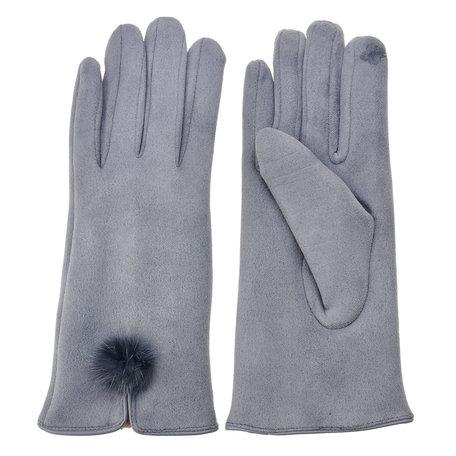 Handschoenen 8*24 cm Grijs | MLGL0018G | Clayre & Eef