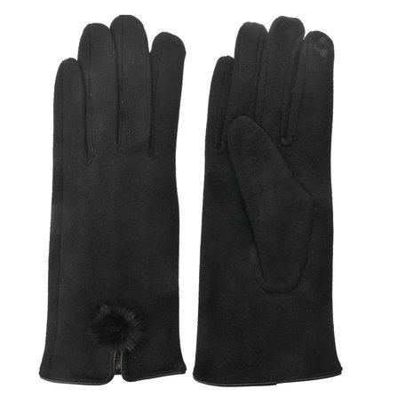 Handschoenen 8*24 cm Zwart | MLGL0018Z | Clayre & Eef