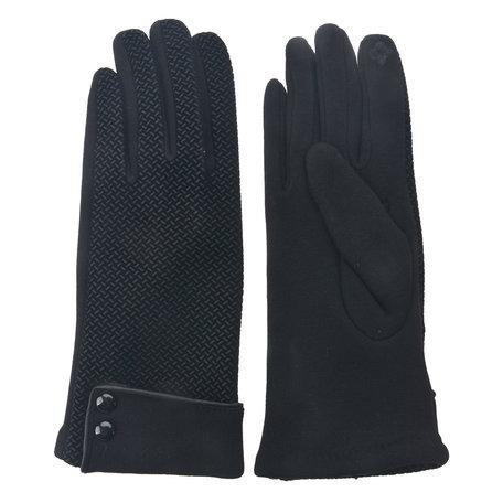 Handschoenen 8*24 cm Zwart | MLGL0022Z | Clayre & Eef