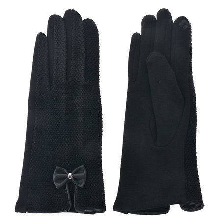Handschoenen 8*24 cm Zwart | MLGL0027 | Clayre & Eef