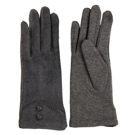 Handschoenen 8*24 cm Grijs | MLGL0028 | Clayre & Eef