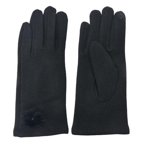Handschoenen 8*24 cm Zwart | MLGL0029Z | Clayre & Eef