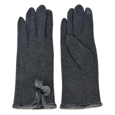 Handschoenen 8*24 cm Grijs | MLGL0033G | Clayre & Eef