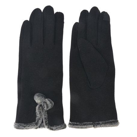 Handschoenen 8*24 cm Zwart | MLGL0033Z | Clayre & Eef