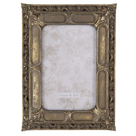 Fotolijst 17*1*22 cm / 10*15 cm Bruin | 2F0687 | Clayre & Eef