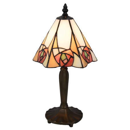 Tafellamp Tiffany 20*18*37 cm E14/max 1*40W Meerkleurig | 5LL-5200 | Clayre & Eef