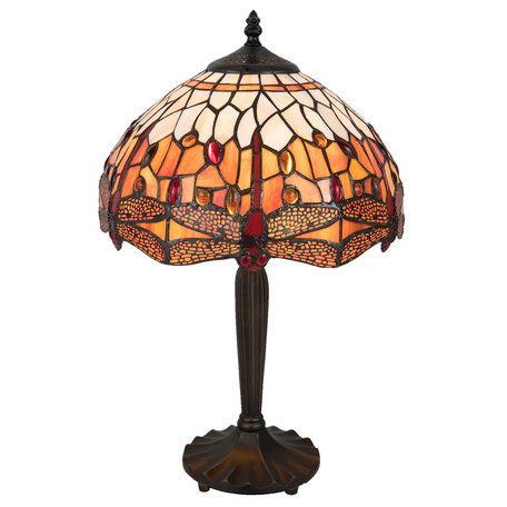 Tafellamp Tiffany ø 31*47 cm E27/max 1*60W Meerkleurig | 5LL-5204 | Clayre & Eef