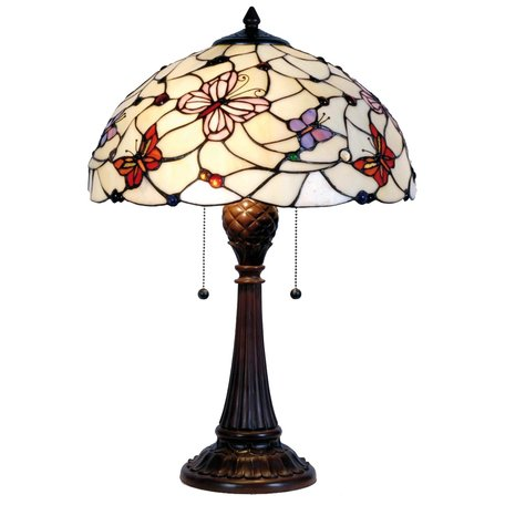 Tafellamp Tiffany ø 41*60 cm E27/max 2*60W Meerkleurig | 5LL-5365 | Clayre & Eef