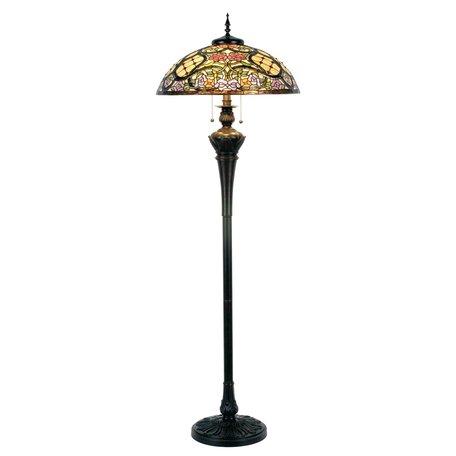 Vloerlamp Tiffany ø 55*150 cm E27/max 3*60W Bruin | 5LL-5437 | Clayre & Eef
