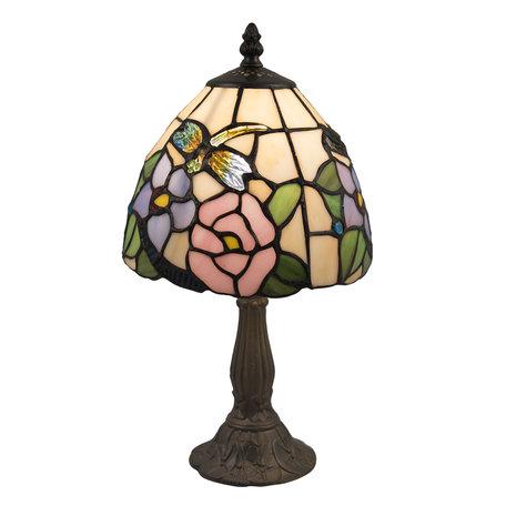 Tafellamp Tiffany ø 20*36 cm E14/max 1*40W Multi | 5LL-5942 | Clayre & Eef