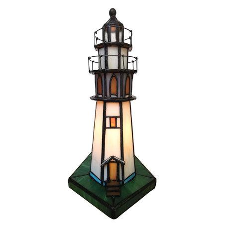 Tafellamp Tiffany 11*11*25 cm E14/max 1*25W Meerkleurig | 5LL-6006 | Clayre & Eef