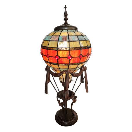 Tafellamp Tiffany 31*31*71 cm E27/max 1*60W Meerkleurig | 5LL-6016 | Clayre & Eef