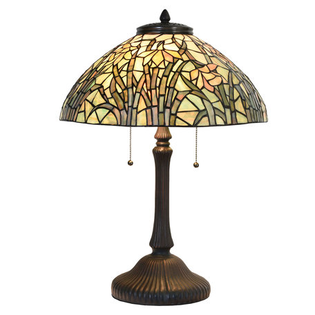 Tafellamp Tiffany ø 40 cm E27/max 3*60W Meerkleurig | 5LL-6037 | Clayre & Eef