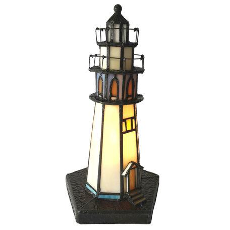 Tafellamp Tiffany ø 12*28 cm E14/max 1*25W Meerkleurig | 5LL-6053 | Clayre & Eef