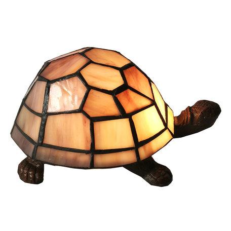 Tafellamp Tiffany 23*14*8 cm E14/max 1*25W Creme | 5LL-6054 | Clayre & Eef