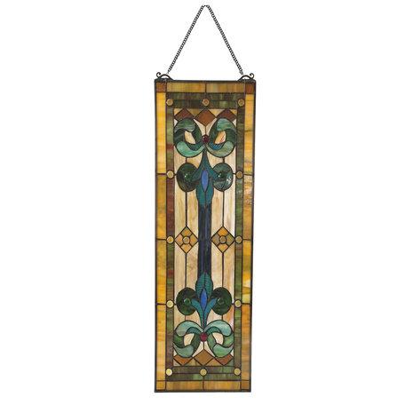 Glaspaneel Tiffany 25*73 cm Multi | 5LL-6057 | Clayre & Eef