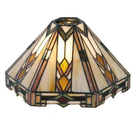 Lampenkap Tiffany 26*22*15 cm / KH 6 cm Meerkleurig | 5LL-9113 | Clayre & Eef
