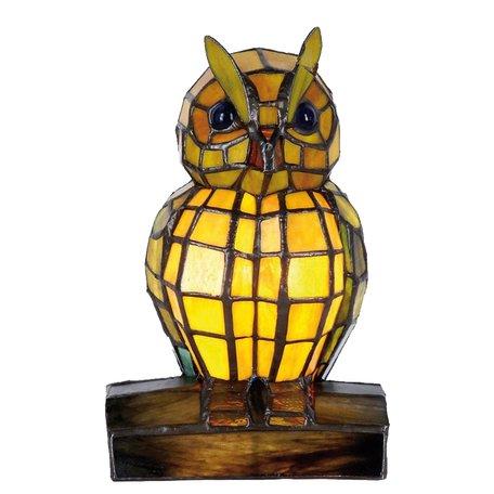 Tafellamp Tiffany 15*12*22 cm E14/max 1*40W Meerkleurig | 5LL-9328 | Clayre & Eef