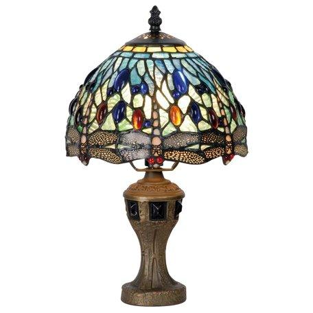 Tafellamp Tiffany ø 20*35 cm E14/max 1*60W Multi | 5LL-9891 | Clayre & Eef