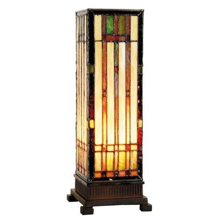 Tafellamp Tiffany 12*12*35 cm E14/max 1*40W Multi | 5LL-9917 | Clayre & Eef