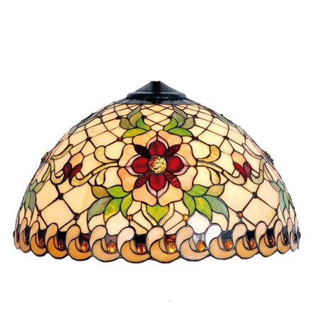 Lampenkap Tiffany ø 30*18 cm Meerkleurig | 5LL-9929 | Clayre & Eef