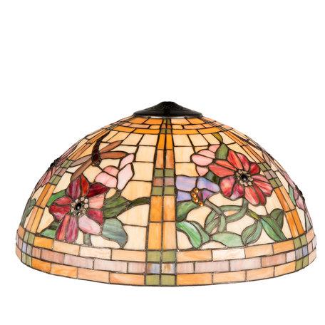 Lampenkap Tiffany ø 50*30 cm Meerkleurig | 5LL-9934 | Clayre & Eef