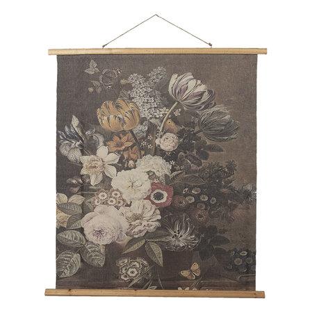 Wandkaart met bloemen 80*2*100 cm Meerkleurig | 5WK0031 | Clayre & Eef