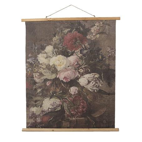 Wandkaart met bloemen 80*2*100 cm Meerkleurig | 5WK0032 | Clayre & Eef