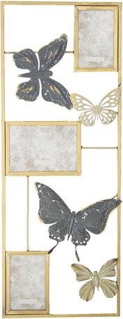 Wanddecoratie vlinders / fotolijst 29*74*3 cm Multi | 5Y0485 | Clayre & Eef