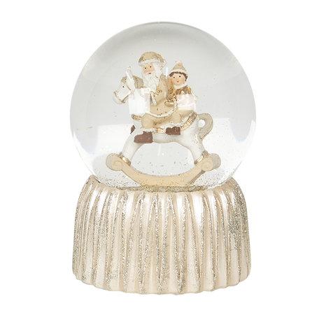Sneeuwbol ø 10*14 cm Goudkleurig | 64548 | Clayre & Eef