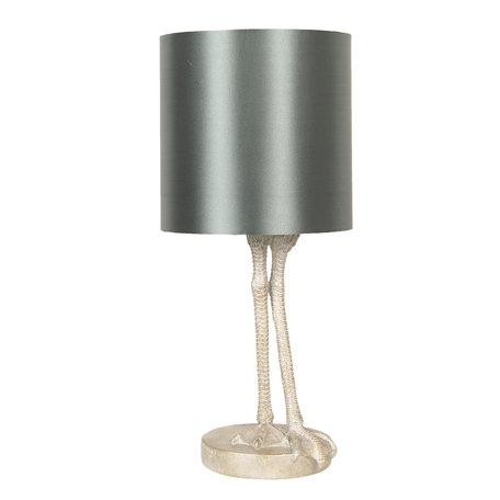 Tafellamp ø 25*56 cm E27/max 1*60W Grijs | 6LMC0009 | Clayre & Eef