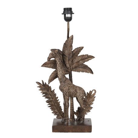 Tafellamp 30*14*55 cm E27/max 1*60W Bruin | 6LMP641 | Clayre & Eef