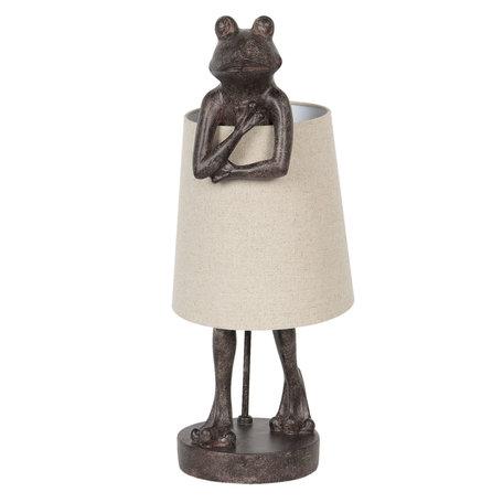 Tafellamp 30*23*56 cm E14/max 1*5W (LED) Zwart | 6LMP645 | Clayre & Eef