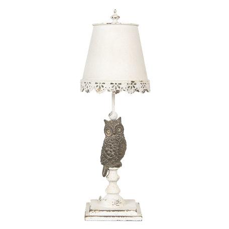 Tafellamp ø 22*69 cm E27/max 1*60W Wit | 6LMP662 | Clayre & Eef