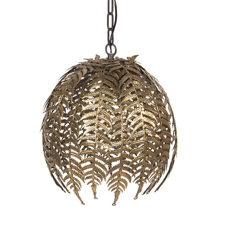 Hanglamp ø 40*40 cm E27/max 1*60W Goudkleurig | 6LMP692 | Clayre & Eef