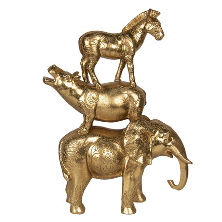Decoratie dieren 30*12*40 cm Goudkleurig | 6PR2853 | Clayre & Eef