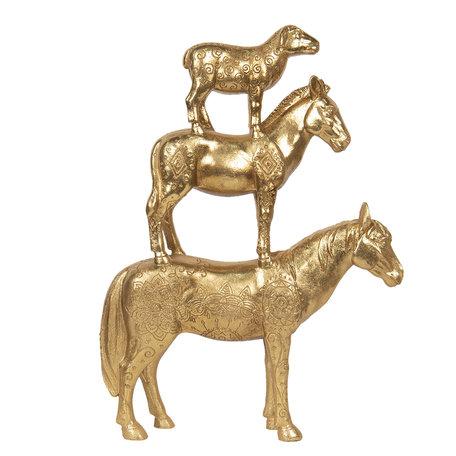 Decoratie dieren 30*8*40 cm Goudkleurig | 6PR2854 | Clayre & Eef